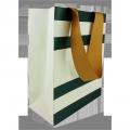 Luxury Custom Logo Printed Retail Clothing Packaging Paper Bag with flat ribbon