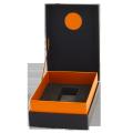 Custom logo printed paper box cosmetics flip top packaging boxes with EVA insert