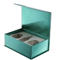 Customize luxury packaging fancy paper perfume box with EVA insert
