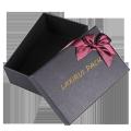 Customized Logo Black Cardboard Packaging Lid And Based 2 Piece Rigid Gift Box for wedding dresss