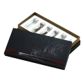 Custom luxury cardboard  gift box with gold foil stamping logo for health care products