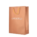 Shopping bag Luxury bronze color special paper bag for apparel store cheap price