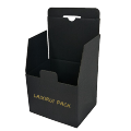 Die cut ladder-shaped Double sides printed black corrugated cardboard retail box for store