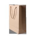 Custom printing logo biodegradable long kraft paper bag with logo for shopping  store