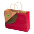 Custom printing red kraft paper bag with twisted handle for Christmas shopping