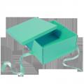 Custom printing top and bottom collapsible Christmas gift box with ribbon closure