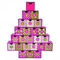 Rigid cardboard Paper box Christmas tree Countdown calendar gift box small
