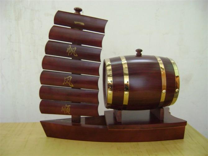 预定 3L一帆风顺木酒桶,木桶,木质酒桶,木工艺品