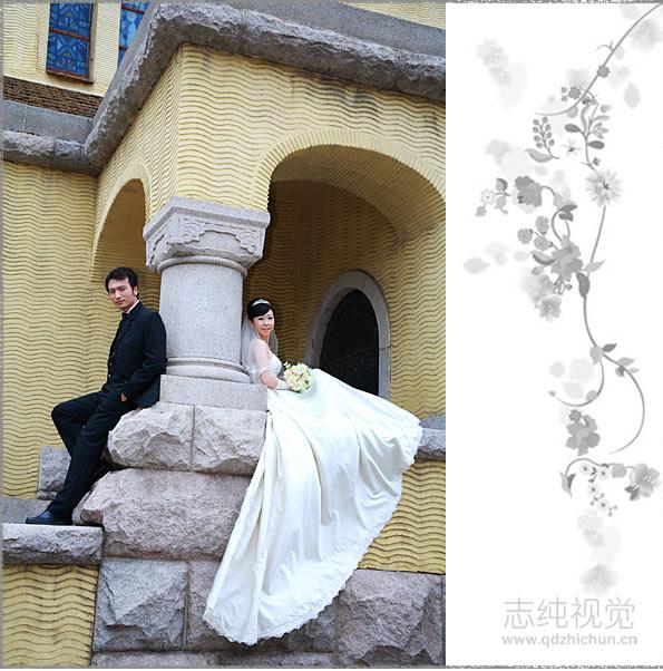 预定 青岛海景婚纱 全程一对一拍摄 浪漫的婚纱照 致纯视觉