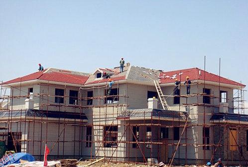 预定 Roofing metal tile installation live picture