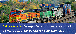 Railway freight forwarder from China