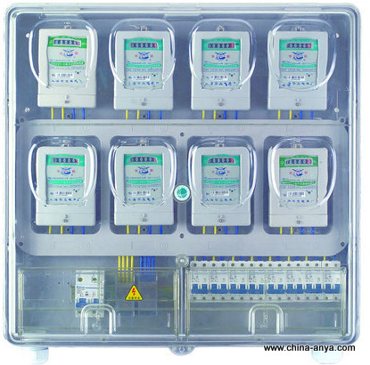 预定 浙江安亚预付费式塑料透明单相电表箱AD08