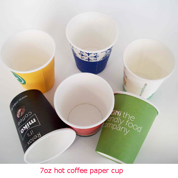 预定 Single Wall Hot Coffee Paper Cups