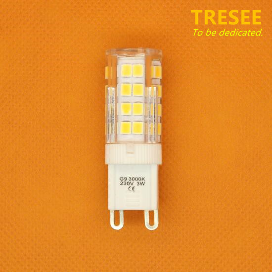 预定 LED Bulb G9 Retrofit Light Lamp Ceramic 3W 2700K
