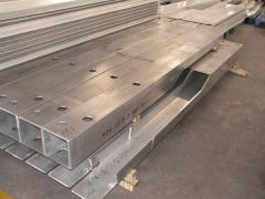 Aluminum parts for vehicle and railways