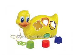 Musical duck with blocks toys