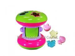 Rotary drum blocks toys