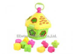 Puzzle blocks toys hexagon house