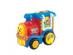 Toys train learning machine with study, test, music, repeat function