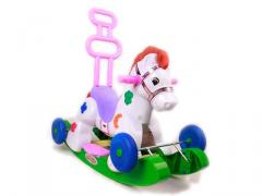Switchable toys ride-on horse with music and light(pink or purple