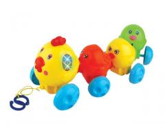 Cable toys chickens with lovely sounds