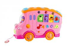 Learning toys car with music and drawing board
