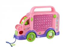Learning toys car with letters and drawing board