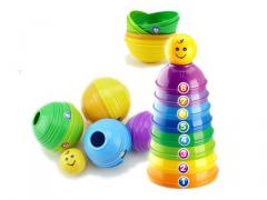 Funny toys stacked cups