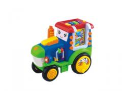 Toys truck learning machine with study, test, music, repeat function