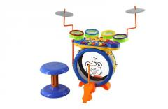 Electronic multifunction musical toys keyboard with drum