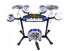 Multi-function musical toys keyboard with drum