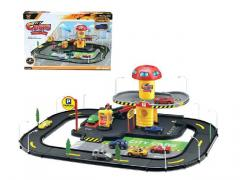 Toys car parking lot with 2 cars
