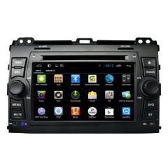 OEM Manufacturer Android In Dash Car Stereo Glonass / GPS Nav Toyota Prado 120