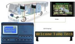GPS bus station audio video auto announcer