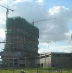 澳门银河度假村正在建设中主楼群